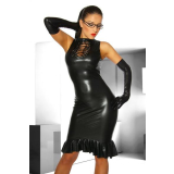 Wet-Look Kleid
