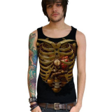 Darkside Träger Shirt Steampunk Ribs