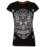 Darkside  Womens T Shirt White Sugar Skull