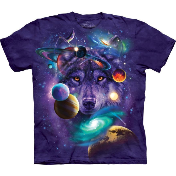 The Mountain T-Shirt Wolf of the Cosmos