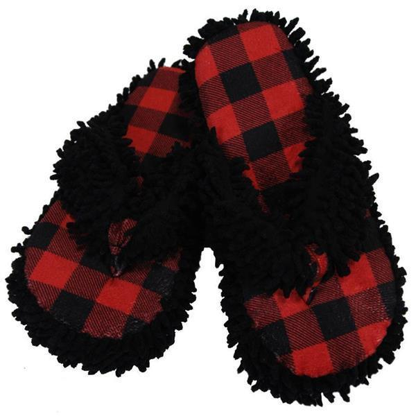 LazyOne Hausschuhe/Spa Slipper Moose Plaid